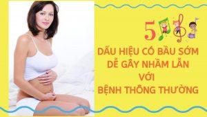 dấu hiện mang bầu sớm