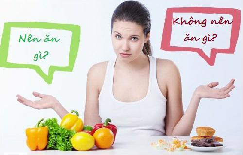 Cần lựa chọn món ăn thích hợp khi có dấu hiệu có bầu trộm