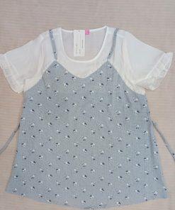 Áo bầu đan dây họa tiết đơn giản